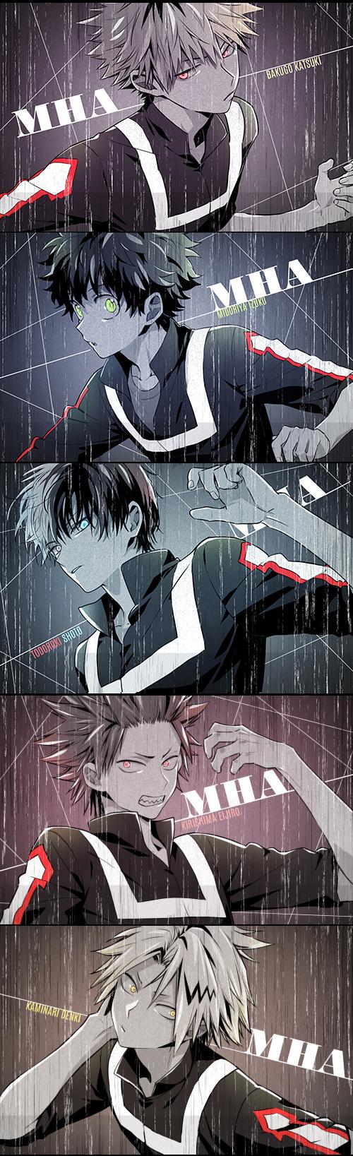 Tags: Anime, enick, Boku no Hero Academia, Bakugou Katsuki, Midoriya Izuku, Kirishima Eijirou, Kaminari Denki, Todoroki Shouto, Pixiv, Fanart, Fanart From Pixiv, My Hero Academia