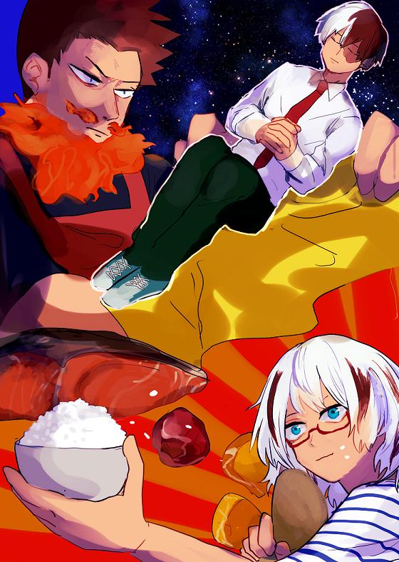 Tags: Anime, Pixiv Id 1323231, Boku no Hero Academia, Todoroki Fuyumi, Todoroki Enji, Todoroki Shouto, Rice, Fanart From Pixiv, Pixiv, Fanart, My Hero Academia