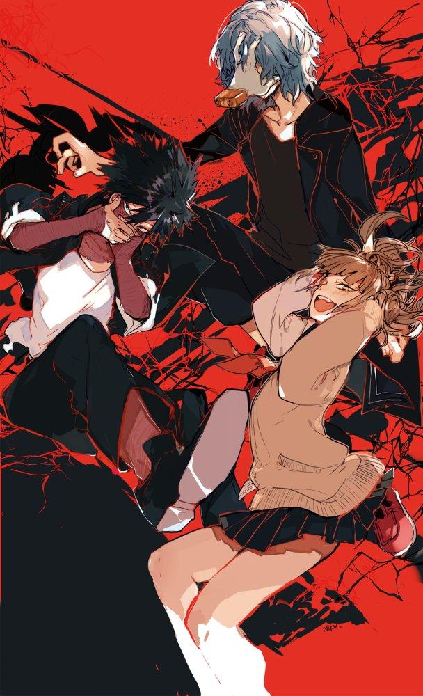 Tags: Anime, Pixiv Id 4162667, Boku no Hero Academia, Shigaraki Tomura, Toga Himiko, Dabi, Pixiv, Fanart, Fanart From Pixiv, My Hero Academia