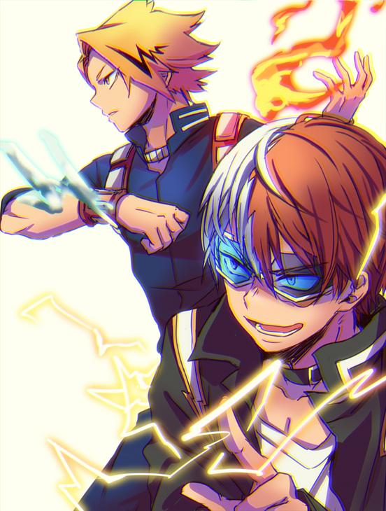 Tags: Anime, Pixiv Id 43298708, Boku no Hero Academia, Kaminari Denki, Todoroki Shouto, Todoroki Shouto (Cosplay), Power Switch, Kaminari Denki (Cosplay), Out of Character, Personality Switch, Pixiv, Fanart, Fanart From Pixiv, My Hero Academia