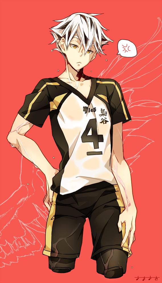 Tags: Anime, Amaoto., Haikyuu!!, Bokuto Koutarou, Volleyball Uniform (Fukurodani Academy), Pixiv, Fanart, Mobile Wallpaper, Fanart From Pixiv, PNG Conversion