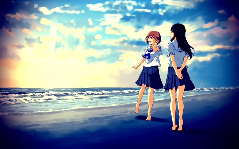 Girl behind anime from Boy Anime