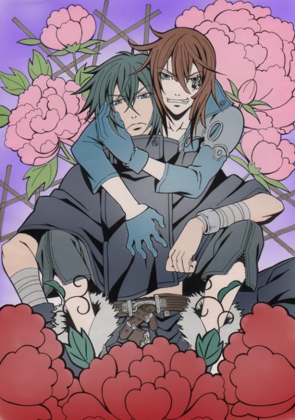Tags: Anime, Pixiv Id 2791766, Brave 10, Kamanosuke Yuri, Kirigakure Saizou, Mobile Wallpaper, Pixiv, Fanart