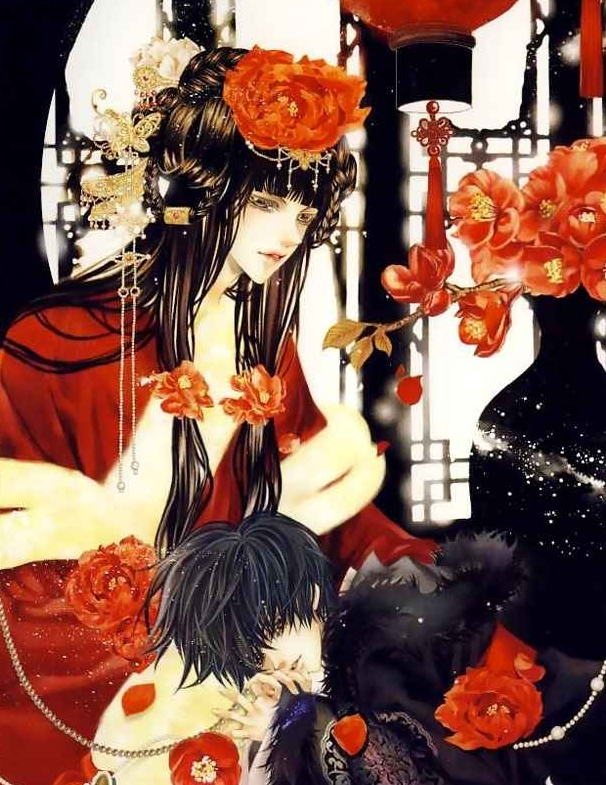 Tags: Anime, Yun Mi-kyung, Bride Of The Water God, Mui, Soah, Habaek, Vase, Scan, Manga Color, The Bride Of The Water God