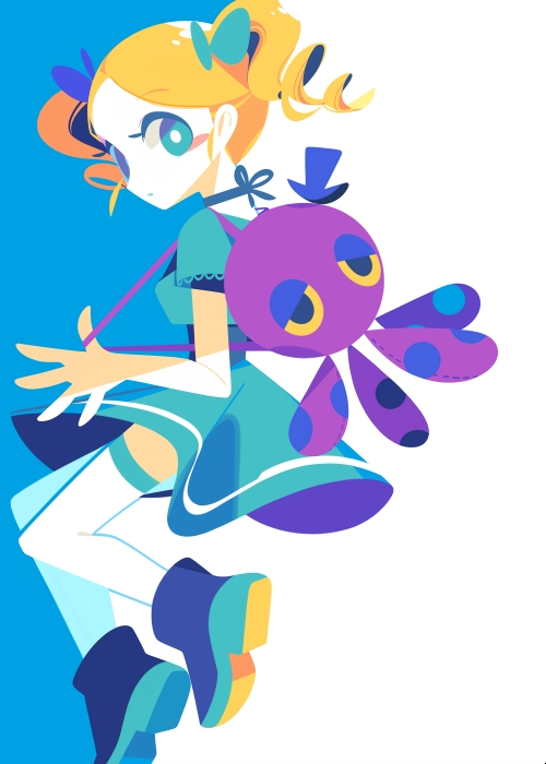 Tags: Anime, Mintchoco, Power Puff Girls, Cartoon Network - Universe: Fusion Fall, Bubbles (PPG), Fanart From Pixiv, Mobile Wallpaper, Pixiv, Fanart