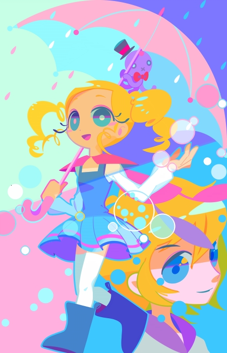 Tags: Anime, Mintchoco, Power Puff Girls, Bubbles (PPG), Fanart From DeviantART, Mobile Wallpaper, deviantART, Fanart