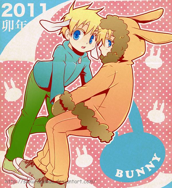 Tags: Anime, Sakurapanda, South Park, Kenneth McCormick, Leopold Stotch, deviantART, Bunny (South Park)