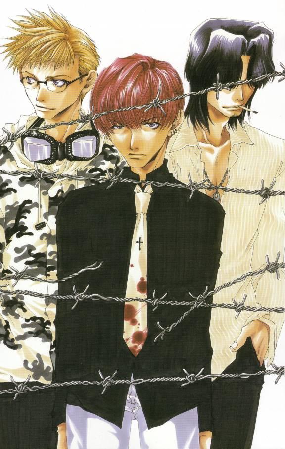 Tags: Anime, Kazuya Minekura, Bus Gamer, Barbed Wire
