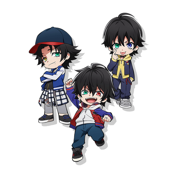 Tags: Anime, A-1 Pictures, Hypnosis Mic -Division Rap Battle- Rhyme Anima, Hypnosis Mic -Division Rap Battle-, Yamada Saburou, Yamada Ichirou (Hypnosis Mic), Yamada Jirou, Pins, Jacket Around Waist, Akanbe, Edited, PNG Conversion, Official Art