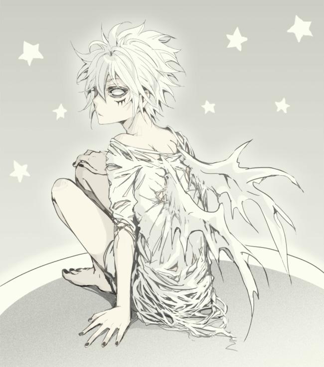 Tags: Anime, B Kuma, Katekyo Hitman REBORN!, Byakuran, T-shirt, Stars (Sky)
