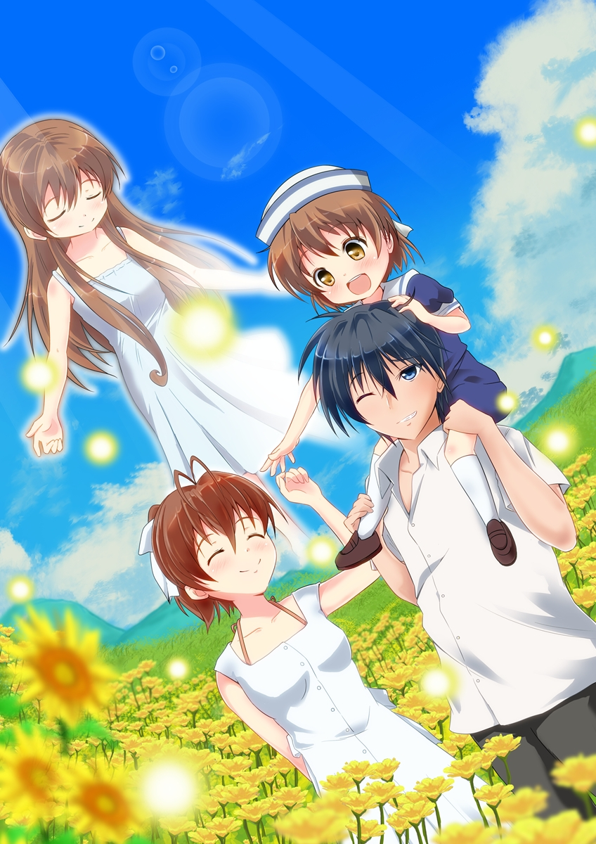 Okazaki Tomoya Okazaki Ushio Page 3 Zerochan Anime Image Board