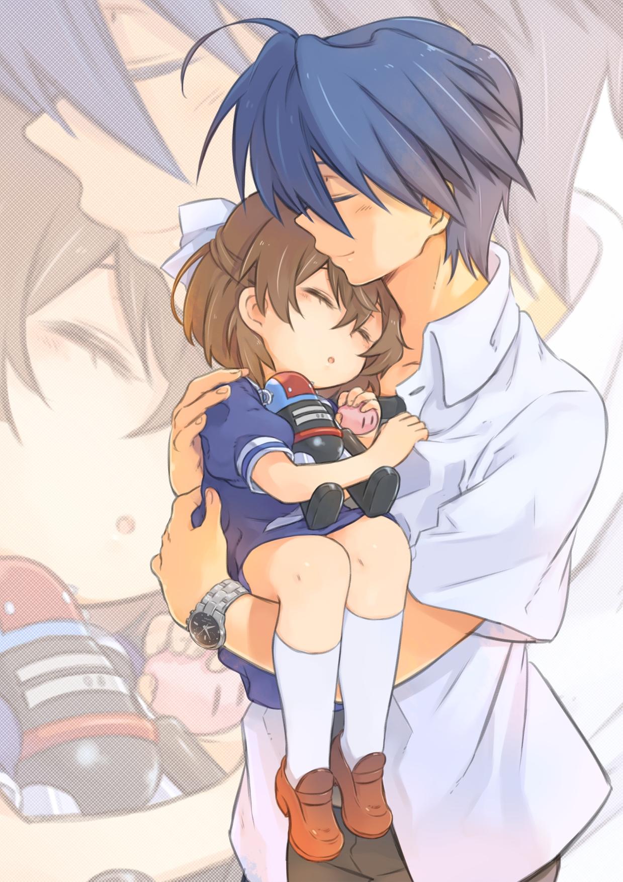 Father Daughter Hugging - Cumception