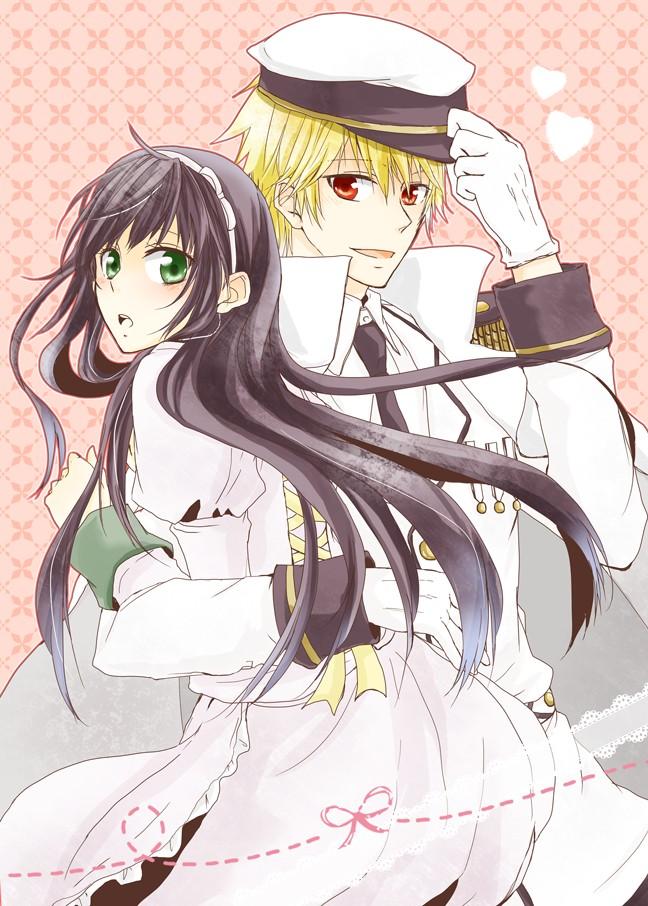 Tags: Anime, IDEA FACTORY, CLOCK ZERO ~Shuuen no Ichibyou~, Kaga Akira, Kurou Nadeshiko, Mobile Wallpaper
