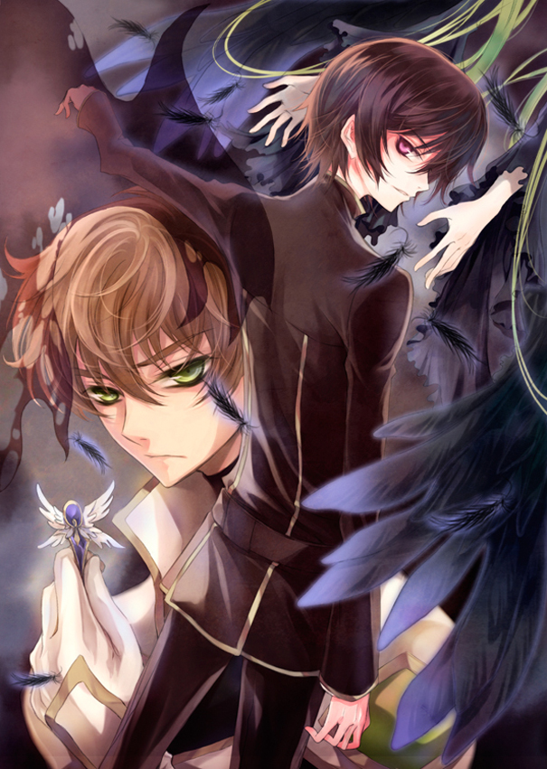 Tags: Anime, Fylus, CODE GEASS: Hangyaku no Lelouch, C.C., Lelouch Lamperouge, Kururugi Suzaku, Mobile Wallpaper, Fanart, Code Geass: Lelouch Of The Rebellion