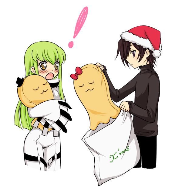 Tags: Anime, Mizunomoto, CODE GEASS: Hangyaku no Lelouch, Cheese-kun, Lelouch Lamperouge, C.C., Straightjacket, Fanart, Code Geass: Lelouch Of The Rebellion