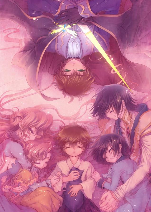 Tags: Anime, Minami (Apricot Tea), CODE GEASS: Hangyaku no Lelouch, Kururugi Suzaku, Zero2, Euphemia li Britannia, Lelouch Lamperouge, Arthur (CODE GEASS), Fanart, Mobile Wallpaper, Code Geass: Lelouch Of The Rebellion