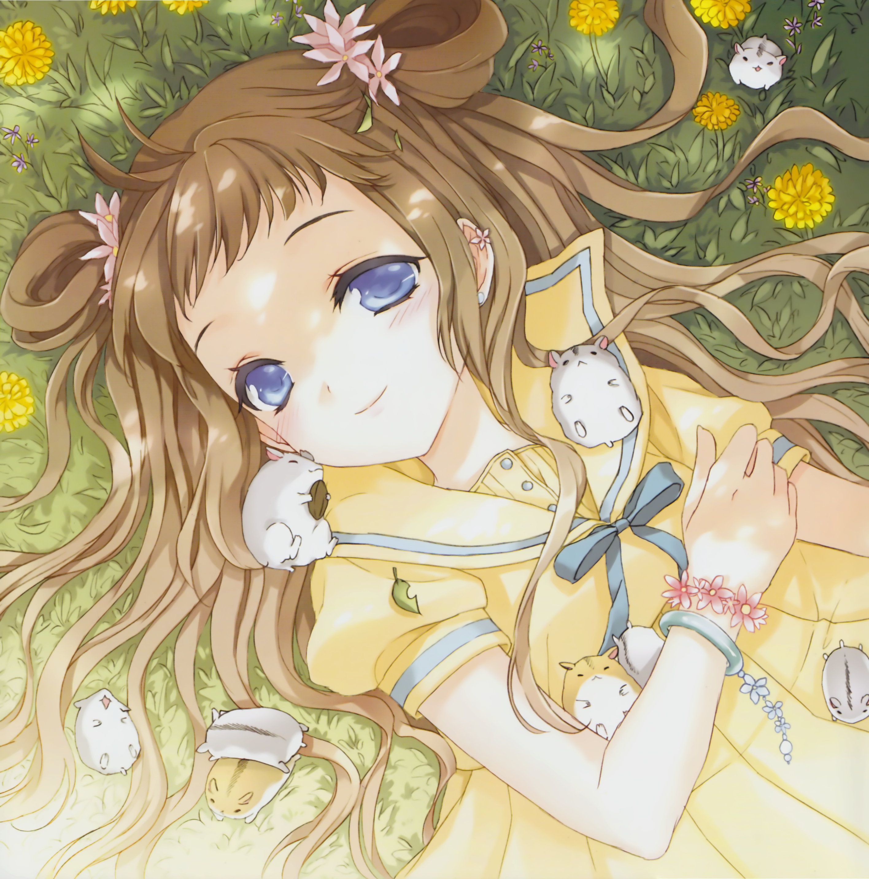 Anime Sleeping Cat Girl Sketch