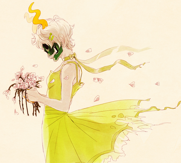 Tags: Anime, HappyDs, Homestuck, Calliope (Homestuck), Beige Background, PNG Conversion, Fanart, Tumblr