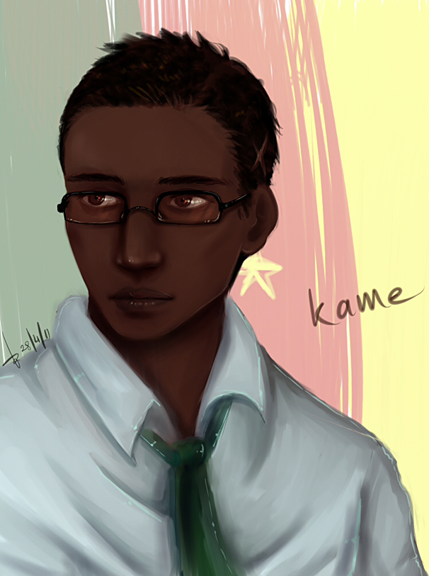 Tags: Anime, AkariMarco, Axis Powers: Hetalia, Cameroon, Flag Background, Pixiv