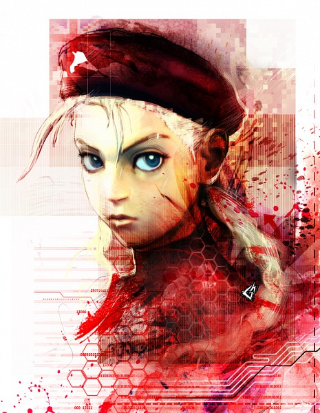 Tags: anime, street fighter, cammy white, red, beret