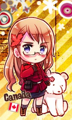Tags: Anime, Himaruya Hidekaz, Axis Powers: Hetalia, Kumajirou, Canada (Female), Kumajirou (Female), Player 2, Nyotalia, Mobile Wallpaper, Official Art