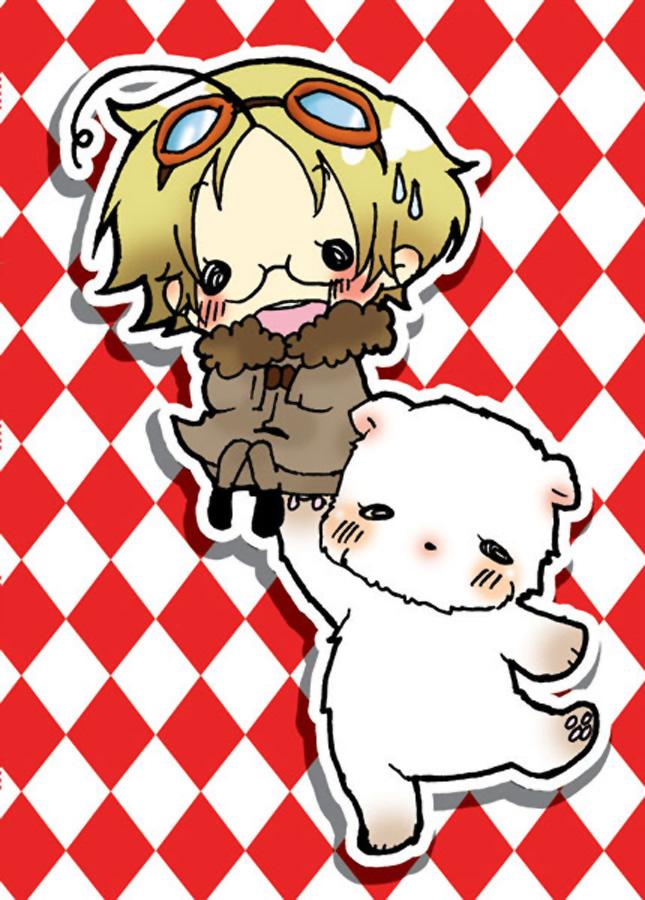 Tags: Anime, Roomleader, Axis Powers: Hetalia, Kumajirou, Canada, Confused, Polar Bear, Fanart