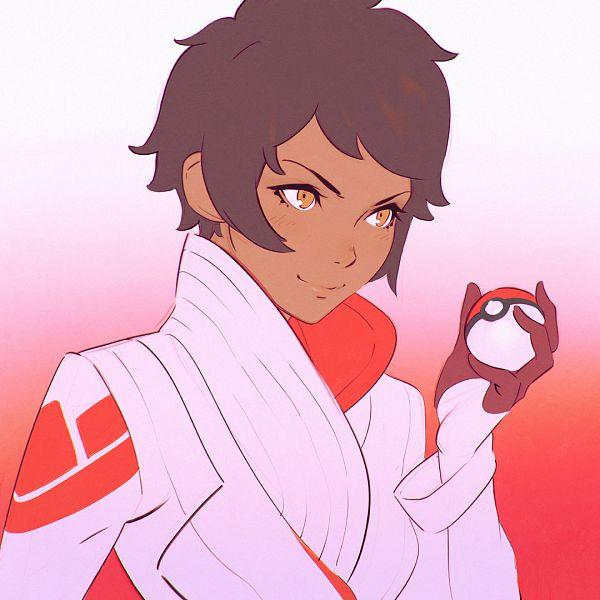 Tags: Anime, KR0NPR1NZ, Pokémon, Candela (Pokémon GO), Bust, Pokéball