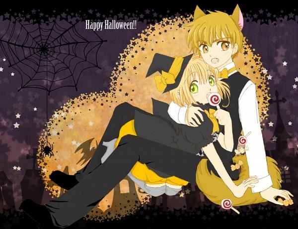 Tags: Anime, Cardcaptor Sakura, Li Syaoran, Kinomoto Sakura, Candy, Halloween, Halloween Costume