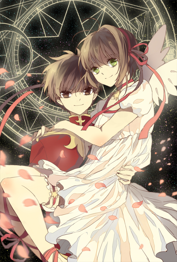 Tags: Anime, Cardcaptor Sakura, Li Syaoran, Kinomoto Sakura, Carry, Magic, Magic Circle