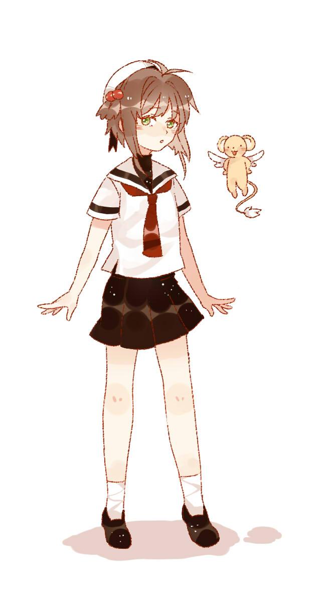 Tags: Anime, Pixiv Id 10463051, Cardcaptor Sakura, Kero-chan, Kinomoto Sakura, Fanart, Fanart From Pixiv, Pixiv