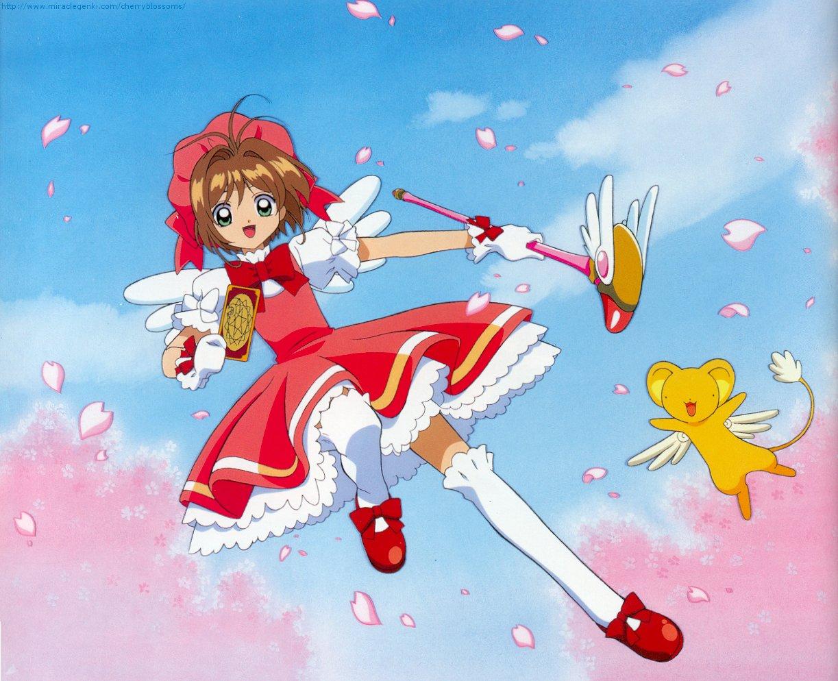 Cardcaptor Sakura, Cheerio!, Kinomoto Sakura, Kerochan, Flying, Pink
