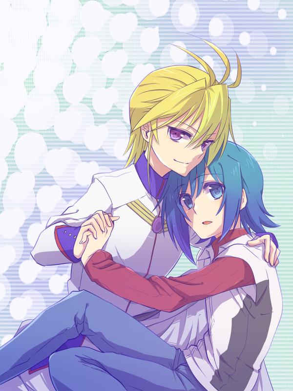 Tags: Anime, Tani (Pixiv 446857), Asia Circuit Hen, Cardfight!! Vanguard, Sendou Aichi, Souryuu Leon, Fanart, Pixiv