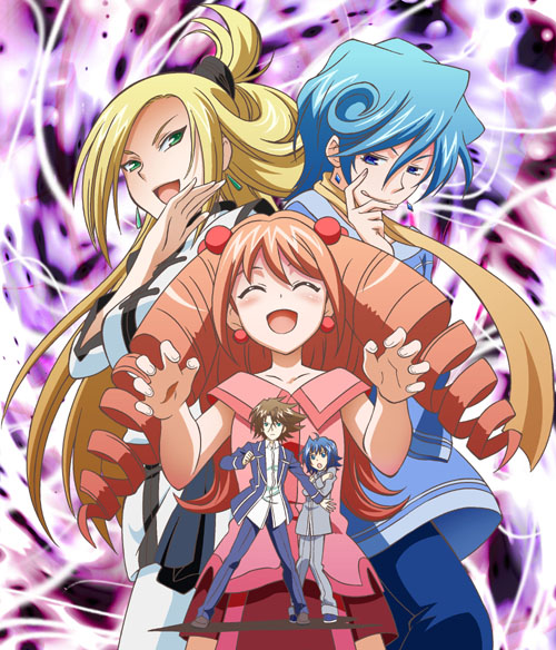 Tags: Anime, Pixiv Id 2414400, Cardfight!! Vanguard, Sendou Aichi, Tatsunagi Suiko, Tatsunagi Kourin, Tatsunagi Rekka, Kai Toshiki, School Uniform (Hitsue High), School Uniform (Hitsue Middle School), Pixiv, Fanart, Team Ultra Rare
