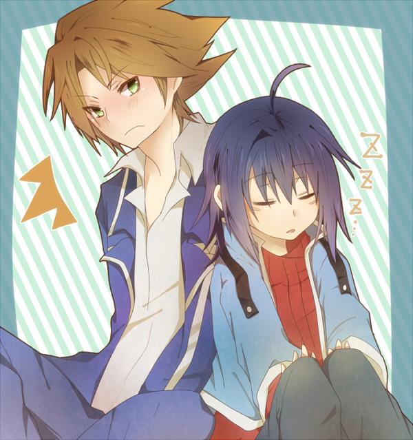 Tags: Anime, Sxupxdxxy, Cardfight!! Vanguard, Kai Toshiki, Sendou Aichi, School Uniform (Hitsue High), Fanart, Team Q4