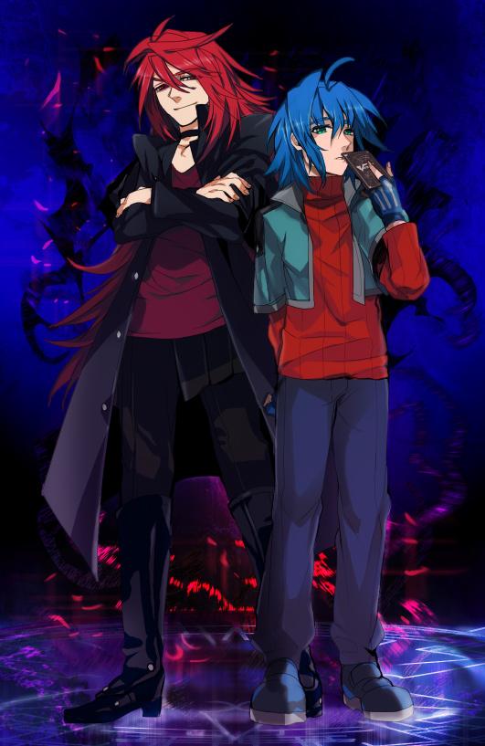 Tags: Anime, Wonagi, Cardfight!! Vanguard, Suzugamori Ren, Sendou Aichi, Fanart, Pixiv