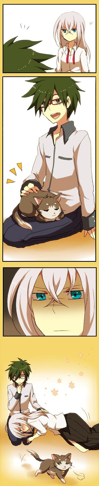 Tags: Anime, Akasata, Cardfight!! Vanguard, Nitta Shin, Tokura Misaki, Tenchou Dairi, Pixiv, Fanart