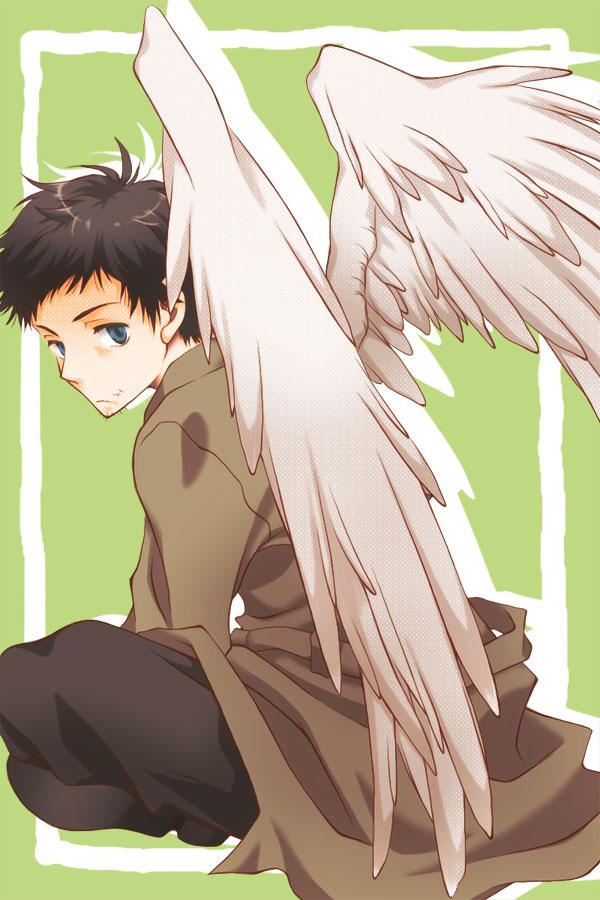 Tags: Anime, Hakiri, Supernatural, Castiel, Mobile Wallpaper