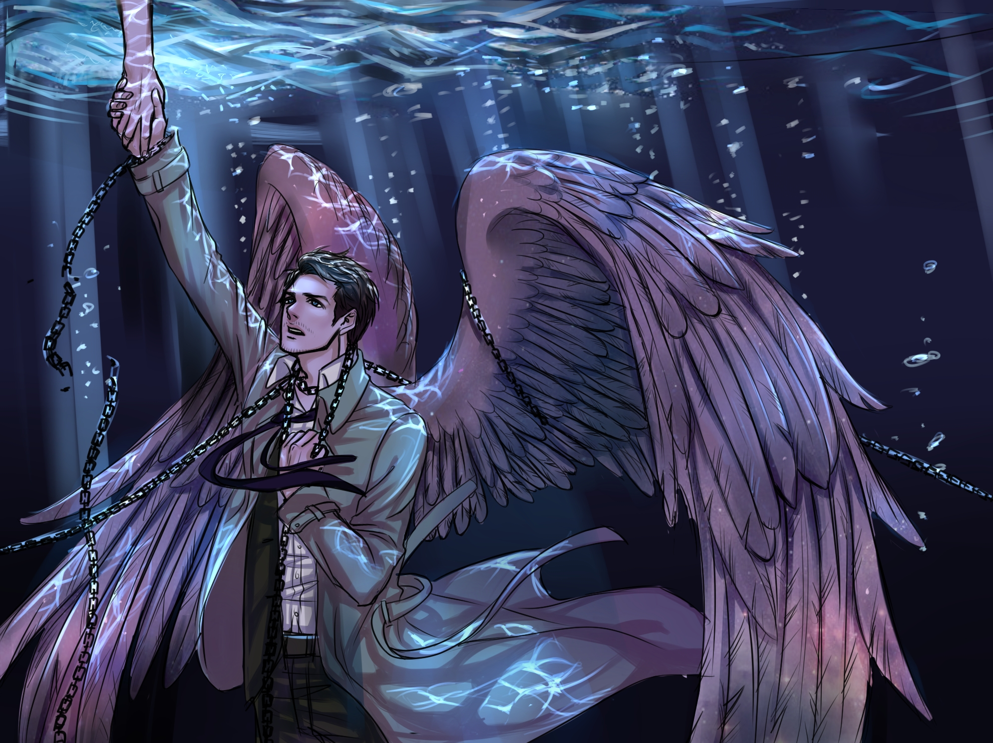 Castiel Wings Fan Art