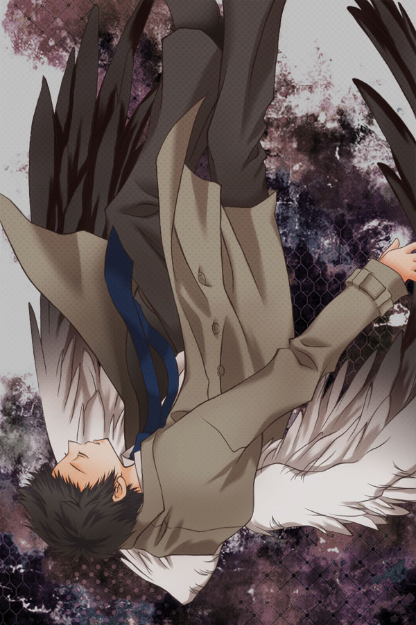 Tags: Anime, Hakiri, Supernatural, Castiel, Trench Coat, Pixiv, Mobile Wallpaper