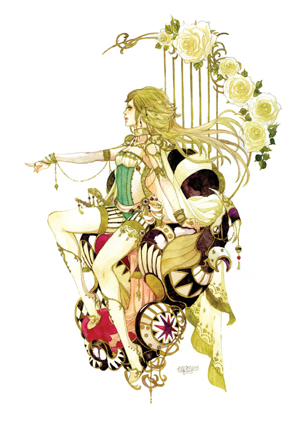 Tags: Anime, Sakizou, Final Fantasy VI, Celes Chere, Mobile Wallpaper, Pixiv