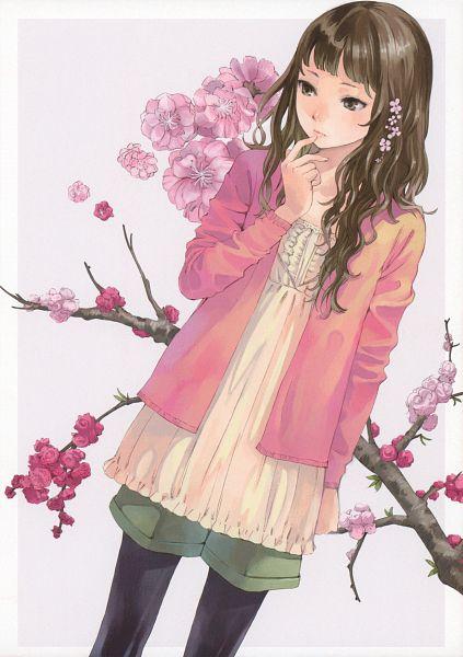Tags: Anime, Kishida Mel, Cellophane, Branch, Spring, Sweater, Finger To Lips