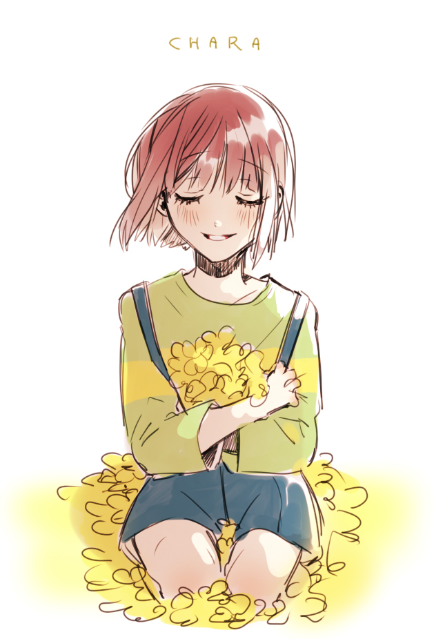 Tags: Anime, Piyo (ppotatto), Undertale, Chara (Undertale), Peaceful, Pixiv, Fanart, Fanart From Pixiv, Mobile Wallpaper, PNG Conversion