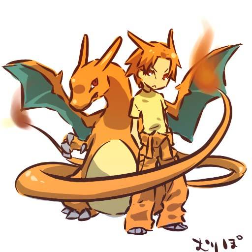 Tags: Anime, Hitec, Pokémon, Charizard, Dragon Wings, Fanart