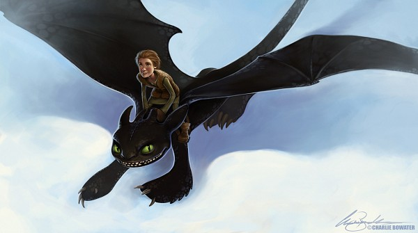 Tags: Anime, Fanart, Charlie Bowater, How to Train Your Dragon, Toothless