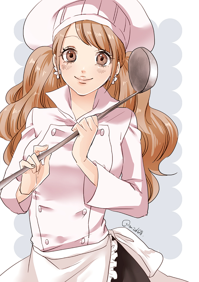 Tags: Anime, Pixiv Id 520618, M2d08, ONE PIECE, Charlotte Pudding, Ladle, Chef Uniform, Chef Hat, Pixiv, Fanart From Pixiv, One Piece: Two Years Later, Fanart, Twitter