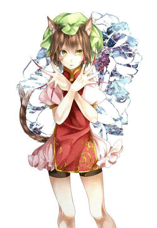 Tags: Anime, Silentdin, Touhou, Chen, Tabard, Fanart, Fanart From Pixiv, Pixiv