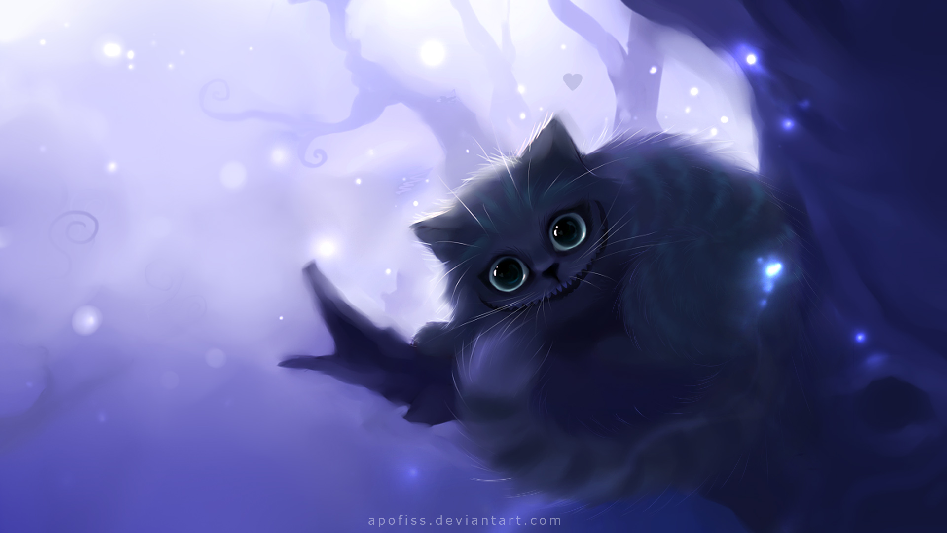Cheshire cat wallpaper zerochan anime image board - Anime cat wallpaper ...