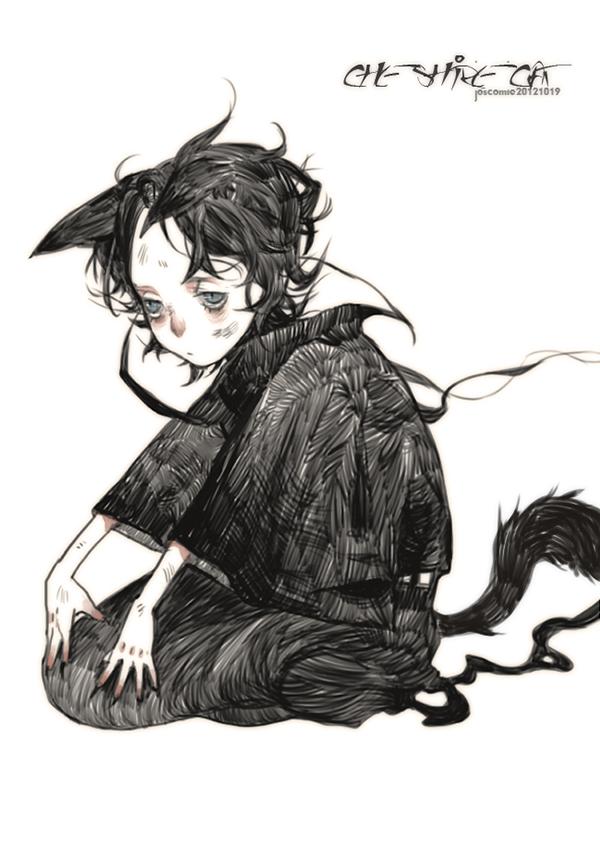 Tags: Anime, Josco, Alice in Wonderland, AliceRoulette, Cheshire Cat, Fanart