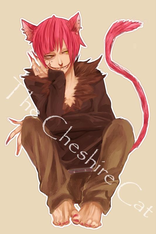 Tags: Anime, Dakadou, Alice in Wonderland, Cheshire Cat, Pixiv, Mobile Wallpaper
