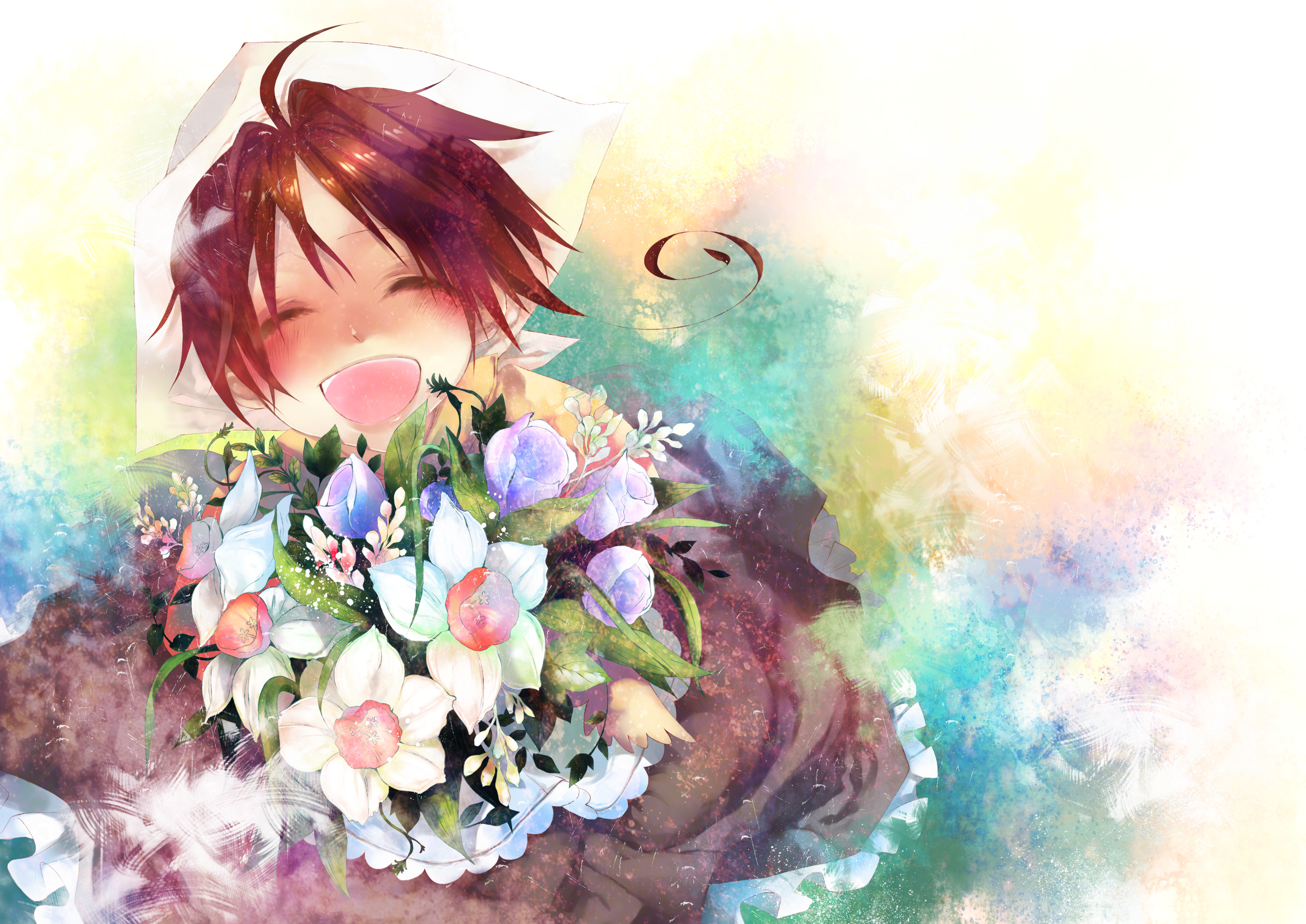 Картинки цветы красивые букеты аниме
